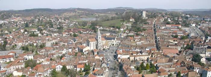 Vue aérienne d'Orthez