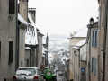 Rue Moncade sous la neige