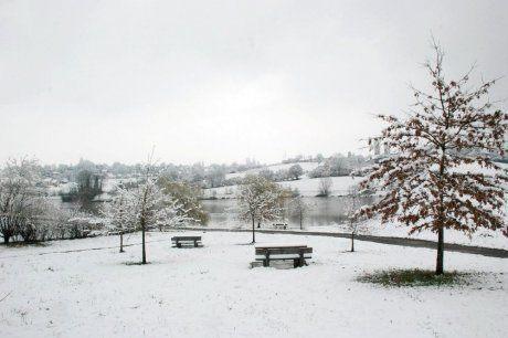 Le Lac de l'Y sous la neige