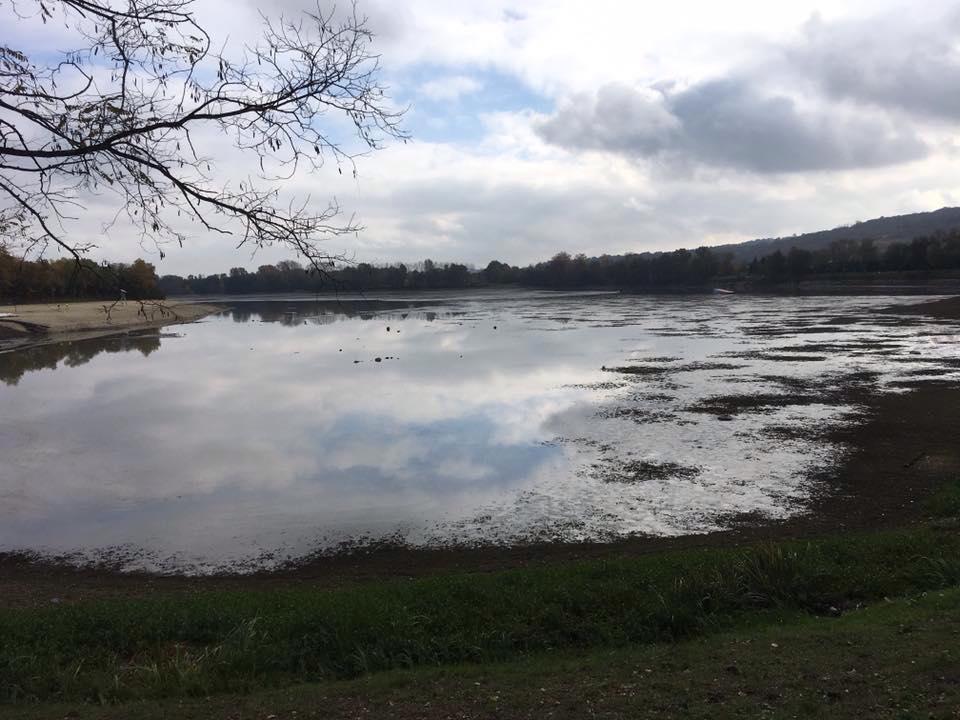 Vidange du lac d'Orthez | Photo Xavier Mars